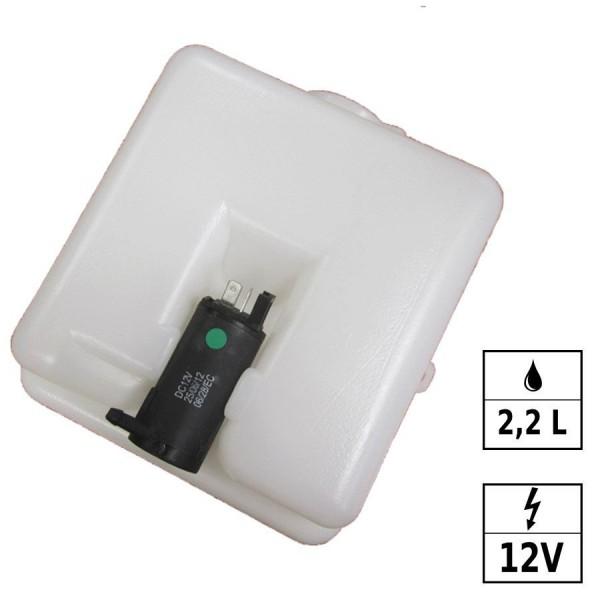 Réservoir lave-glace 12V 2,2L 1 pompe