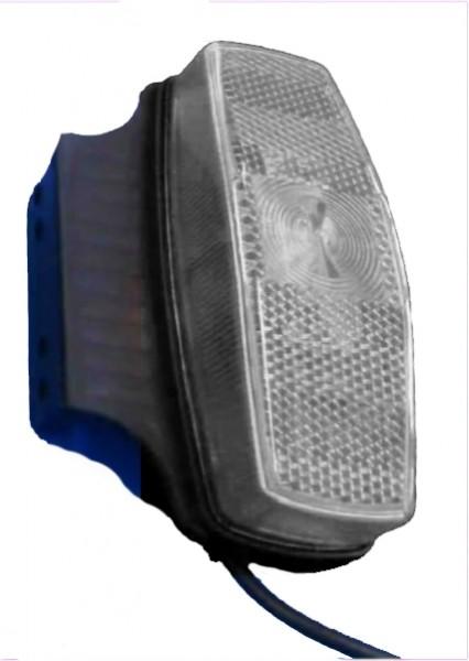 Feu de gabarit avec catadioptre BLANC avec support 90° sans ampoule