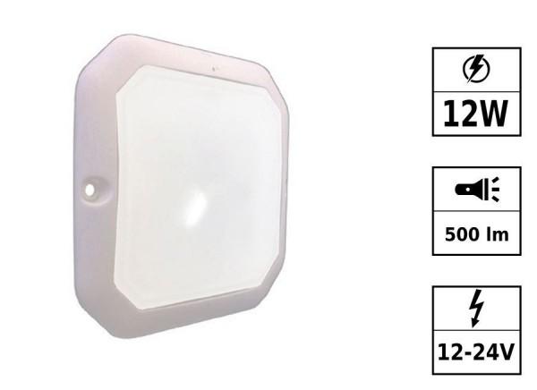 Plafonnier 4 LED détecteur de présence 12/24V 12W