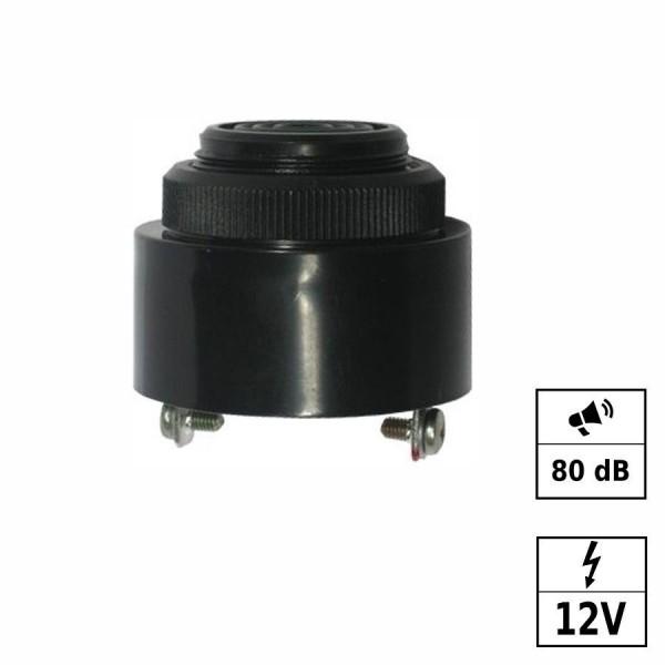 Piezo Buzzer Bip continu [+ - ] 12VDC (6-28VDC) 80dB