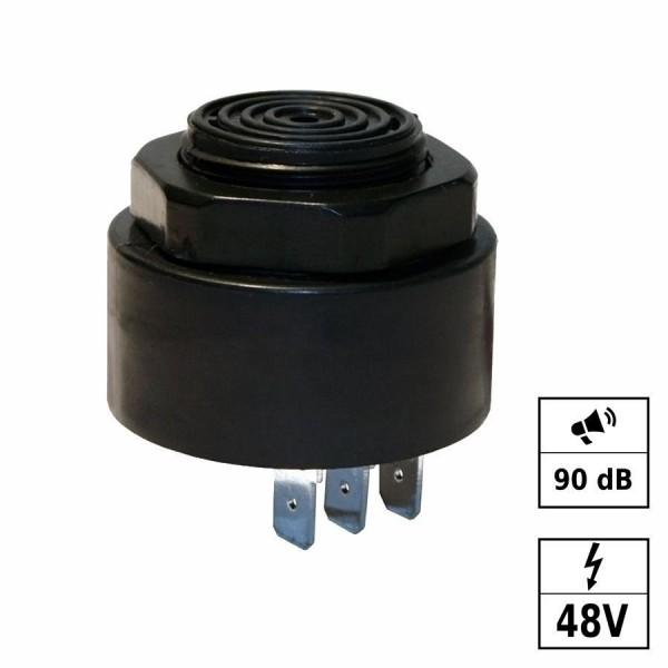 Piezo buzzer ton continu & bip court 90dB 48VDC (38-58VDC)