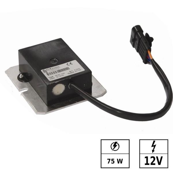Convertisseur de tension 30-150 VDC/12 VDC 6,3A 75W IP65 Connexion en parallèle possible