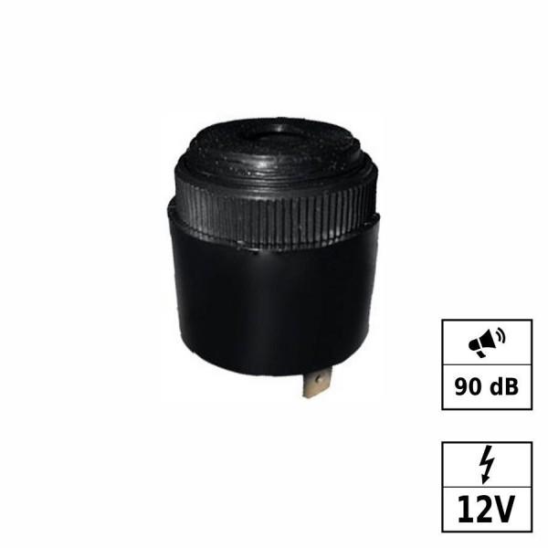 Piezo Buzzer Bip lent [+ - ] 90dB 12VDC (6-30VDC)