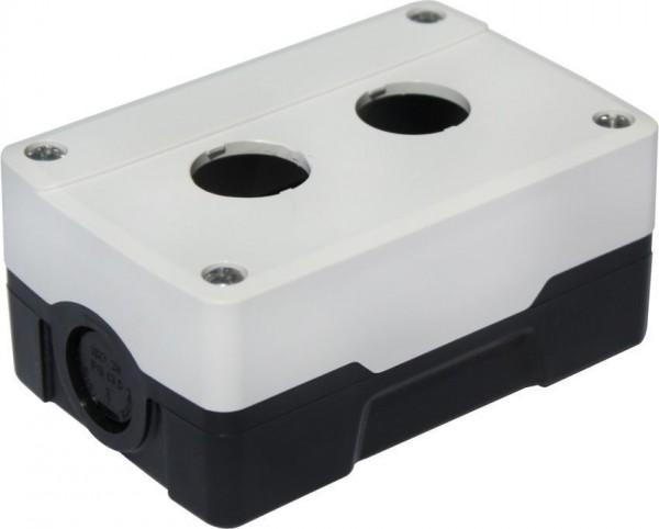Boîtier 2 trous PC Blanc/Noir