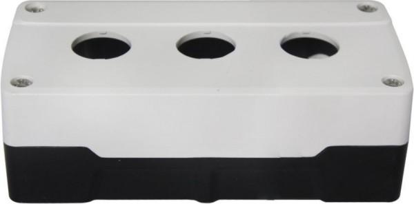 Boîtier 3 trous PC Blanc/Noir