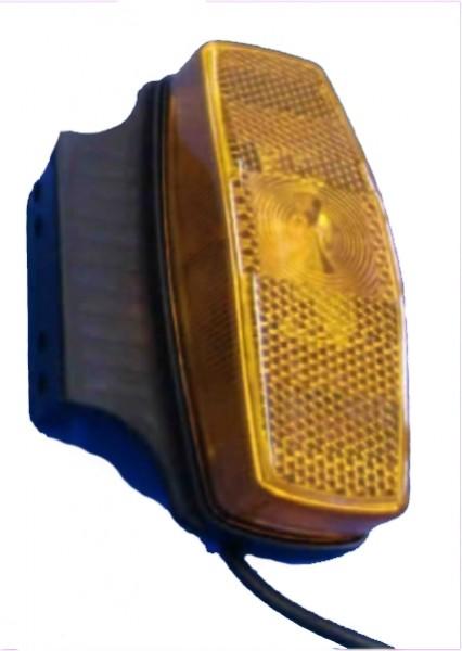 Feu de gabarit avec catadioptre ORANGE avec support 90° sans ampoule