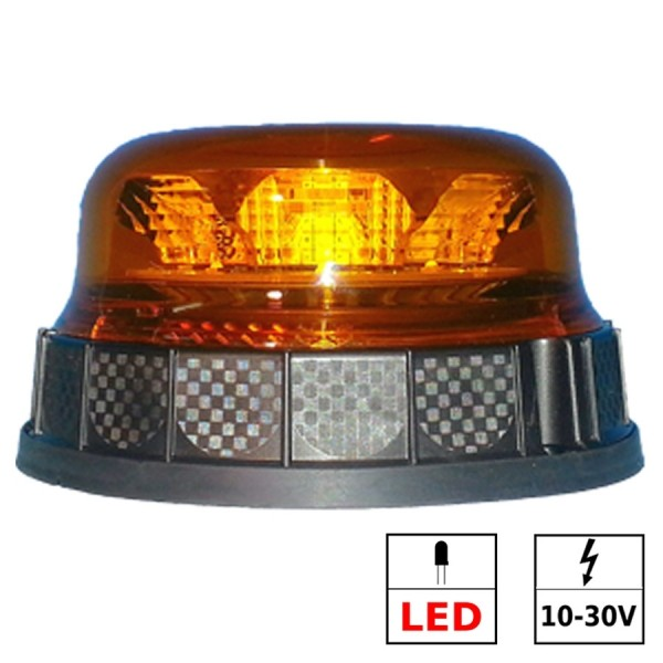 Gyrophare LED 3 fonctions ECE R65 3 points