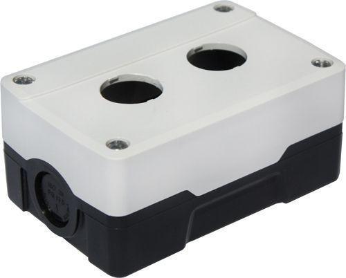 Boîtier 2 trous ABS Blanc/Noir