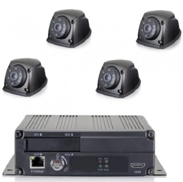 Kit système 360° comprenant 4 caméras 1080 Full HD 170° et boitier de contrôle ARM Cotex A9