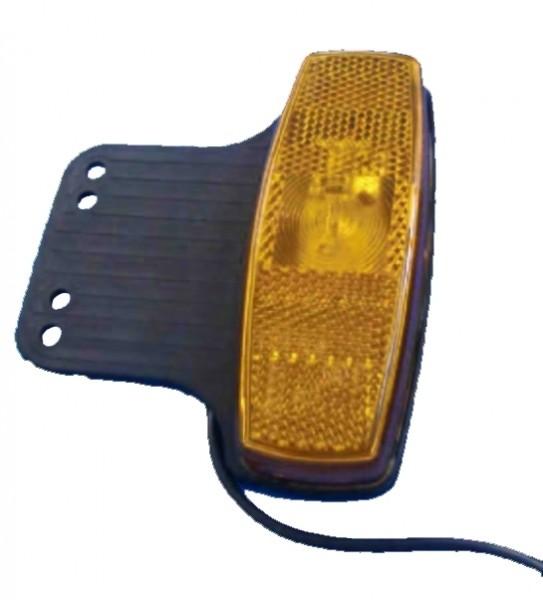 Feu de gabarit avec catadioptre LED ORANGE avec support